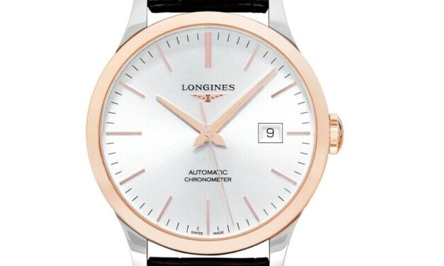 LONGINES  Record  L28215722 Silver Dial Men's Watch Genuine FreeS&H