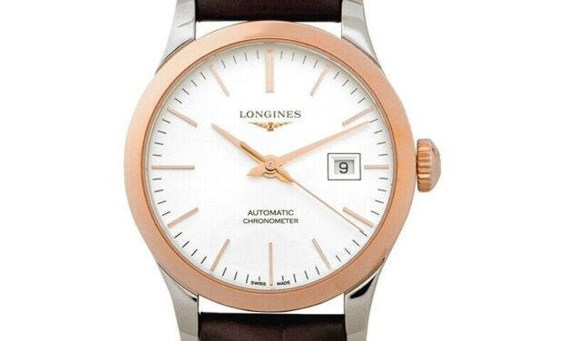 LONGINES  Record  L23215722 Sunray silver Dial Lady's Watch Genuine FreeS&H