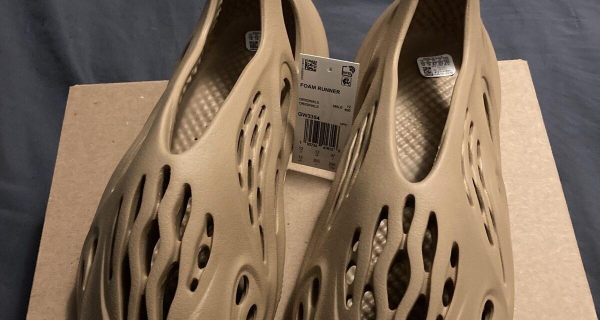 Adidas Yeezy Foam Runner Ochre Men's Size 12 GW3354