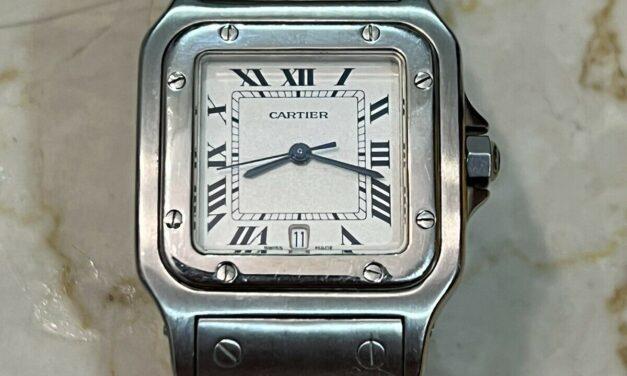 Cartier Santos White Men's Watch – 1564