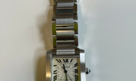 Cartier Men's Watch Tank Francaise Large Immaculate Condition Just Serviced