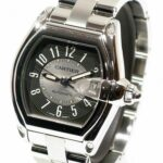 CARTIER ROADSTER Men's Watch Stainless Steel Tuxedo Dial Numbers Date $$$ Retail