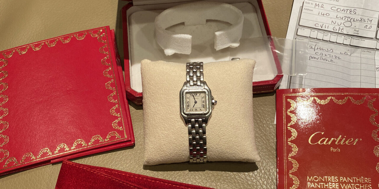 Cartier Panthere Ladies Watch Ref. 1320 Box & Papers Receipt Extra Links Amazing