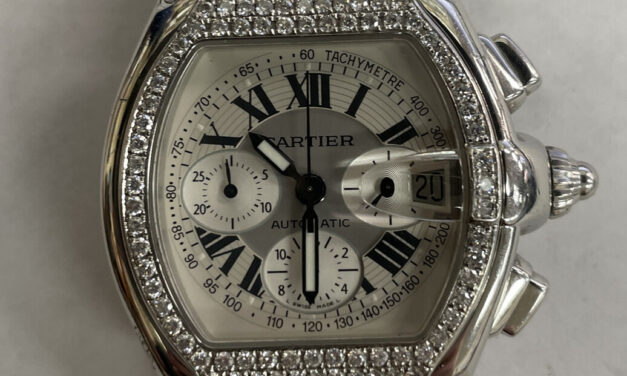 Cartier Roadster with diamond bezel 2518