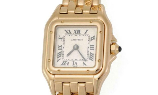 Panthere de Cartier 18k Yellow Gold Ladies Quartz Wrist Watch 08989